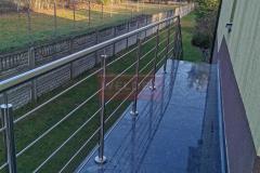 Balustrada Stal nierdzewna Schody Taras Balkon  (20)