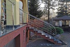 Balustrada Stal nierdzewna Schody Taras Balkon  (25)