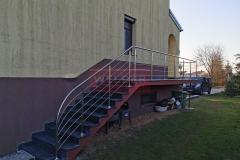 Balustrada Stal nierdzewna Schody Taras Balkon  (4)