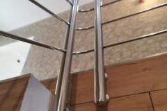 balustrada stal nierdzewna poler Schody Zabiegowe (2)