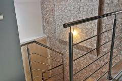 balustrada stal nierdzewna poler Schody Zabiegowe (20)