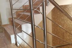 balustrada stal nierdzewna poler Schody Zabiegowe (21)