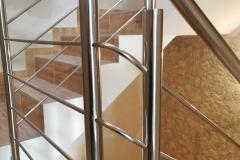 balustrada stal nierdzewna poler Schody Zabiegowe (47)