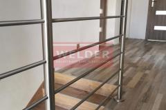 Balustrada stal nierdzewna z drewnianym pochwytem (2)